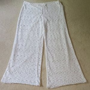 Lace see through overtop swimwear pants